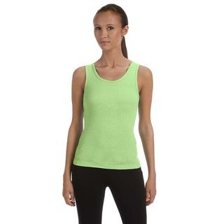 Stretch Rib Women's Lime Wedge Tank