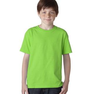 Heavy Cotton Boys' Neon Green Cotton T-Shirt