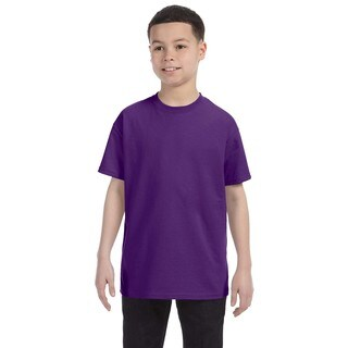 Gildan Boys' Purple Heavy Cotton T-shirt