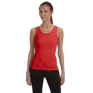 Stretch Rib Women's Red Tank