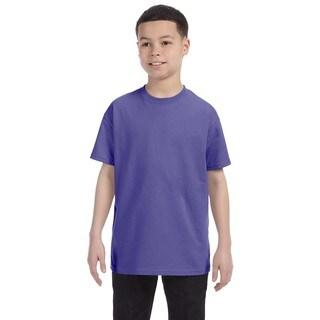 Boys' Violet Heavy Cotton T-shirt