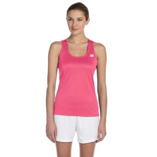 Tempo Women's Safety Pink Running Singlet Tank