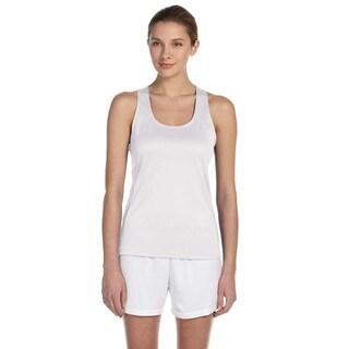 Tempo Women's White Running Singlet Tank
