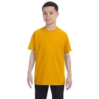 Gildan Boys' Gold Heavy Cotton T-shirt