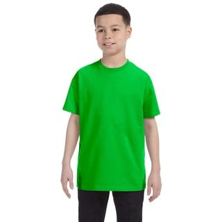 Boys' Electric Green Heavy Cotton T-shirt