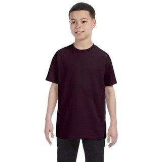 Boys Brown Heavy Cotton T-shirt