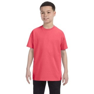 Boys' Coral Silk Heavy Cotton Boys' T-shirt