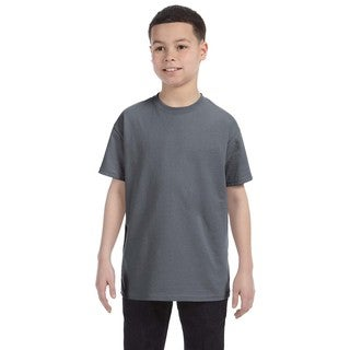 Boys' Charcoal Heavy Cotton T-shirt