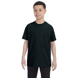 Gildan Boys' Black Heavy-cotton T-shirt