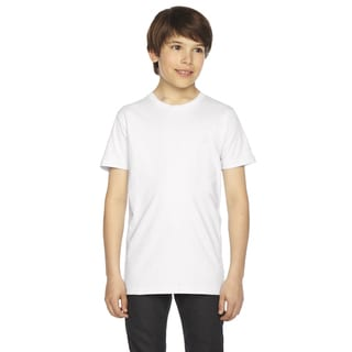 Fine Boys' Jersey Short-Sleeve White T-Shirt
