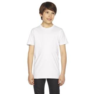 Fine Boys' Jersey Short-Sleeve White T-Shirt