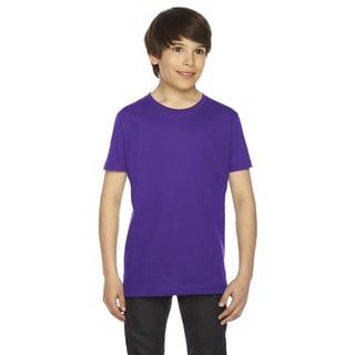 Fine Boys' Jersey Short-Sleeve Purple T-Shirt