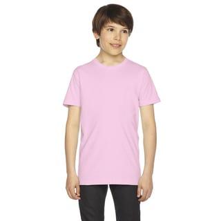 Fine Boys' Jersey Short-Sleeve Pink T-Shirt