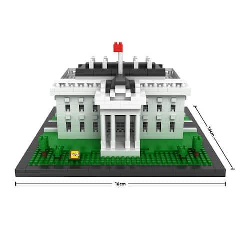 LOZ White House Micro-block Set