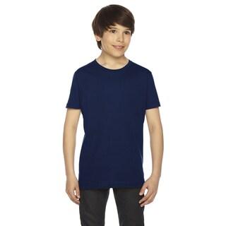 Fine Boys' Navy Jersey Short-Sleeve Boys' T-Shirt