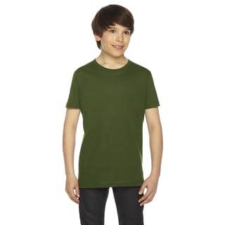 Fine Boys' Jersey Short-Sleeve Boys' Olive T-Shirt