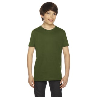 Fine Boys' Jersey Short-Sleeve Boys' Olive T-Shirt