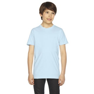 Fine Boys' Jersey Short-Sleeve Boys' Light Blue T-Shirt