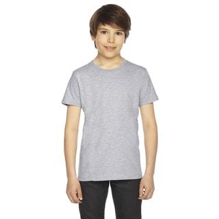 Fine Boys' Jersey Short-Sleeve Boys' Heather Grey T-Shirt