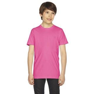 Fine Boys' Jersey Short-Sleeve Boys' Fuchsia T-Shirt