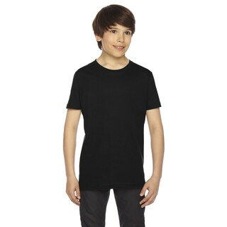 Fine Boys' Jersey Short-Sleeve Boys' Black T-Shirt