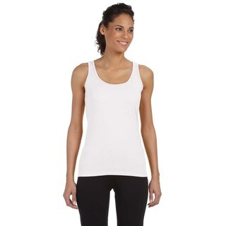 Softstyle Women's White Junior Fit Tank
