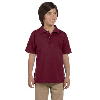 Boys' Ringspun Cotton Pique Short-Sleeve Wine Polo (4 options available)