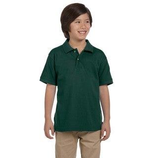 Boys' Ringspun Cotton Pique Short-Sleeve Hunter Polo