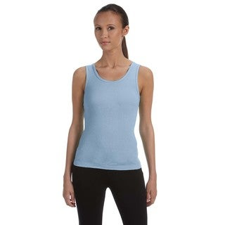 Stretch Rib Women's Baby Blue Tank
