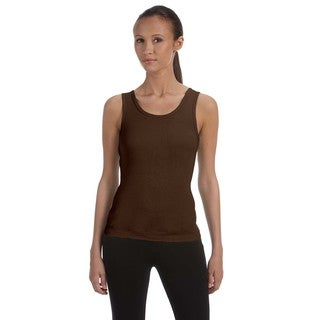 Stretch Rib Women's Chocolate Tank