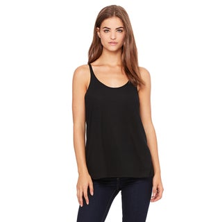 Slouchy Women's Plus Black Tank