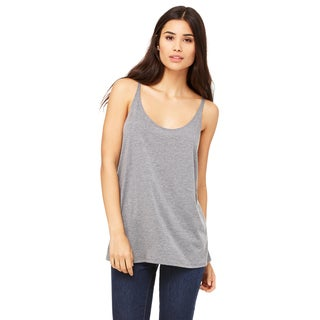 Slouchy Women's Grey Triblend Tank