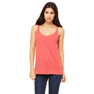 Slouchy Women's Red Triblend Tank