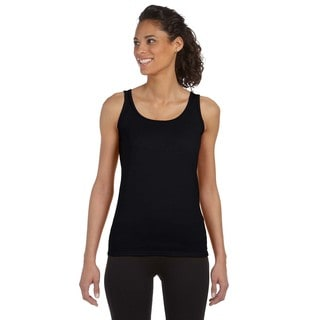Softstyle Women's Junior Fit Black Tank