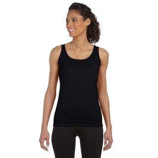 Softstyle Women's Junior Fit Black Tank