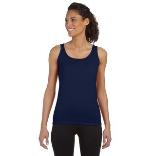 Softstyle Women's Navy Junior Fit Tank