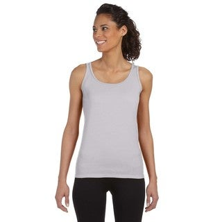 Softstyle Women's Sport Grey Junior Fit Tank
