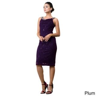 DFI Knee-length Lace Cocktail Dress