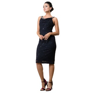 DFI Knee-length Lace Cocktail Dress