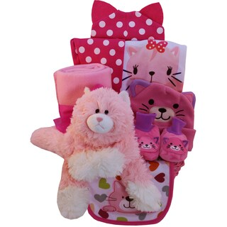 Pretty Kitty Baby Girl Gift Basket
