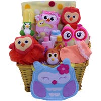 Whooo Loves Ya' Baby? Baby Girls Bath Set Gift Basket