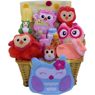 Whooo Loves Ya' Baby? Baby Girls Bath Set Gift Basket