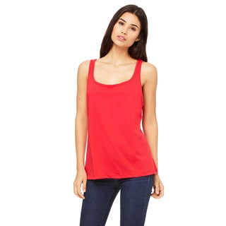 Women's Relaxed Jersey Red Tank
