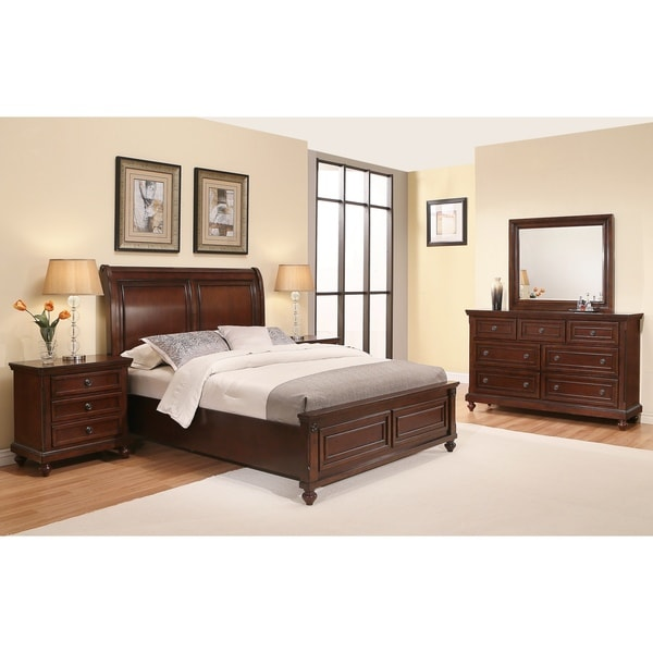 Abbyson Caprice Cherry Wood Bedroom Set (5 piece) - Free Shipping ...
