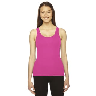 Rib Women's Fuchsia Boy Beater Tank