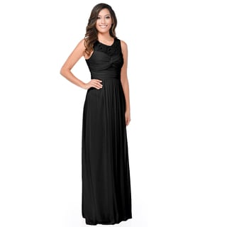 DFI Women's See-through Lace Back Long Dress