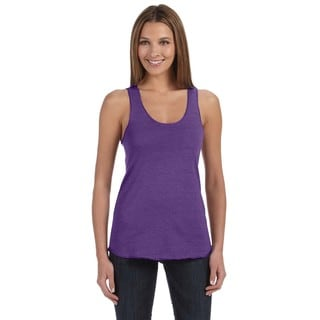 Meegs Women's Racerback Eco True Purple Tank