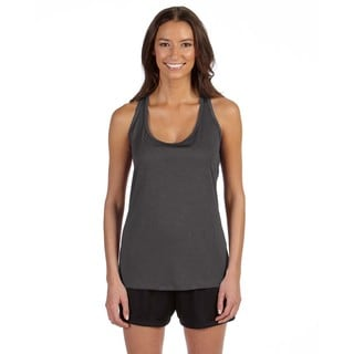 Performance Women's Racerback Dk Grey Heather Tank