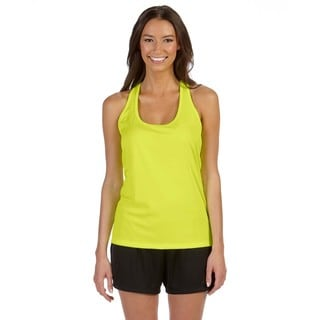 Performance Women's Sport Soft Yellow Racerback Tank