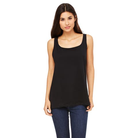 Women's Relaxed Jersey Black Tank